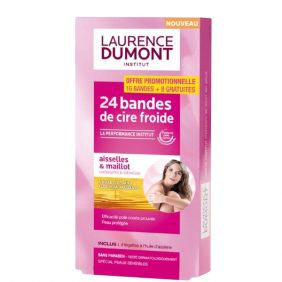 Bandes cire froide pack 24 pièces LAURENCE DUMONT