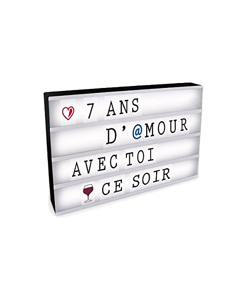 boite lumineuse messages a3 43x32cm light box happy stock. Black Bedroom Furniture Sets. Home Design Ideas