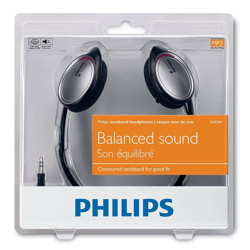 casque st r o tour de cou philips shs390 10 happy stock. Black Bedroom Furniture Sets. Home Design Ideas