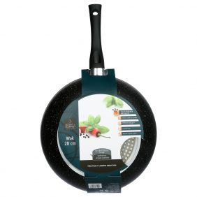 Wok induction effet pierre 28cm SECRET DE GOURMET
