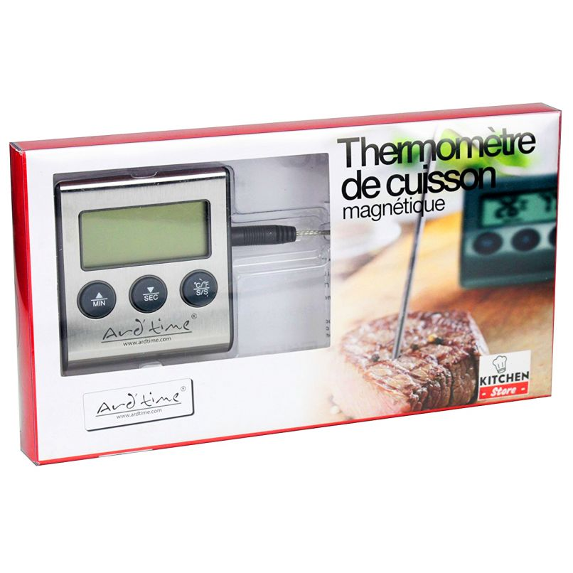 Thermom tre de cuisson sonde ard time happy stock for Thermometre de cuisine avec sonde