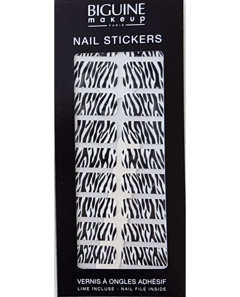 "Nail stickers BIGUINE ""ZEBRE STYLE"""