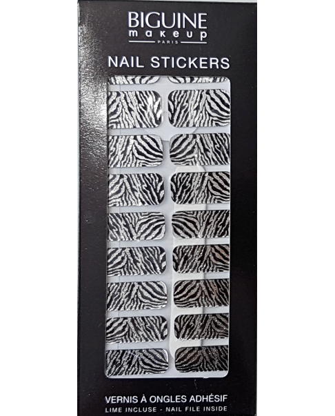 "Nail stickers BIGUINE ""SILVER TIGER"""
